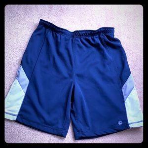 Men's navy athletic shorts